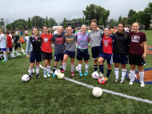 My Girls at the USA camp